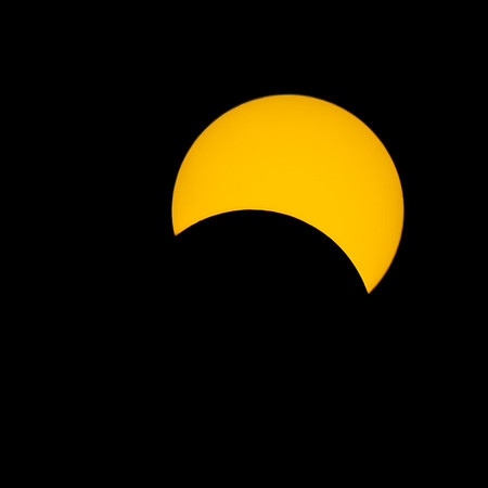 Sun eclipse, Villasanta, Italy, 2006, March 29