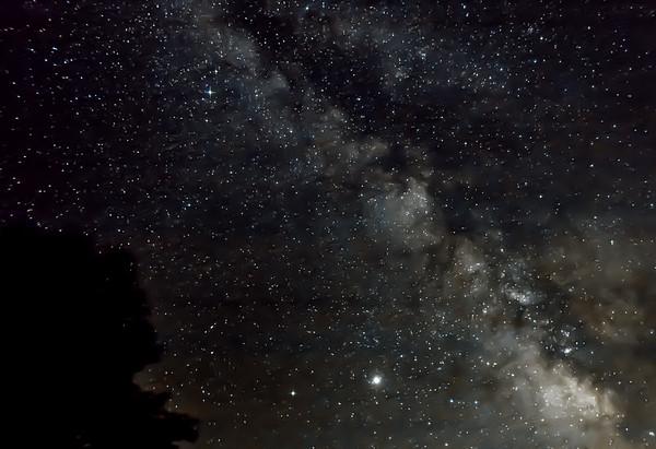 The Milky Way taken from Rifugio della Cicerana, Italy