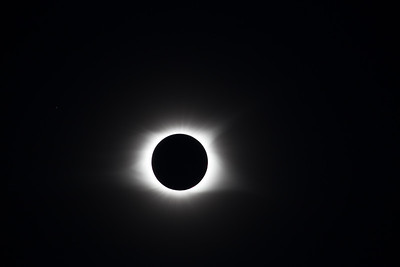 The solar corona, captured in a progression of frames at increasing exposures.