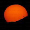 About 5  minutes before Sunset, Venus Sun Transit June 5, 2012 Santa Clarita, CA. Celestron 8- Canon 5D Mark II