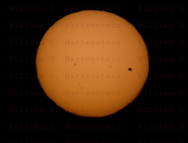 About 10 minutes before Sunset, Venus Sun Transit June 5, 2012 Santa Clarita, CA. Celestron 8- Canon 5D Mark II