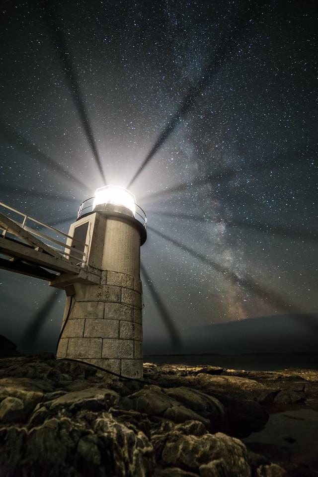Night Sky at Marshall Point Lighthouse