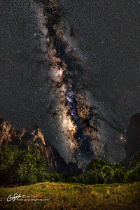 Milky Way over Zion Valley