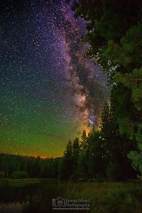 """Milky Way Canopy,"" Manzanita Lake, Lassen Volcanic National Park, California"
