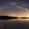 Milky Way Over Pleasant Lake