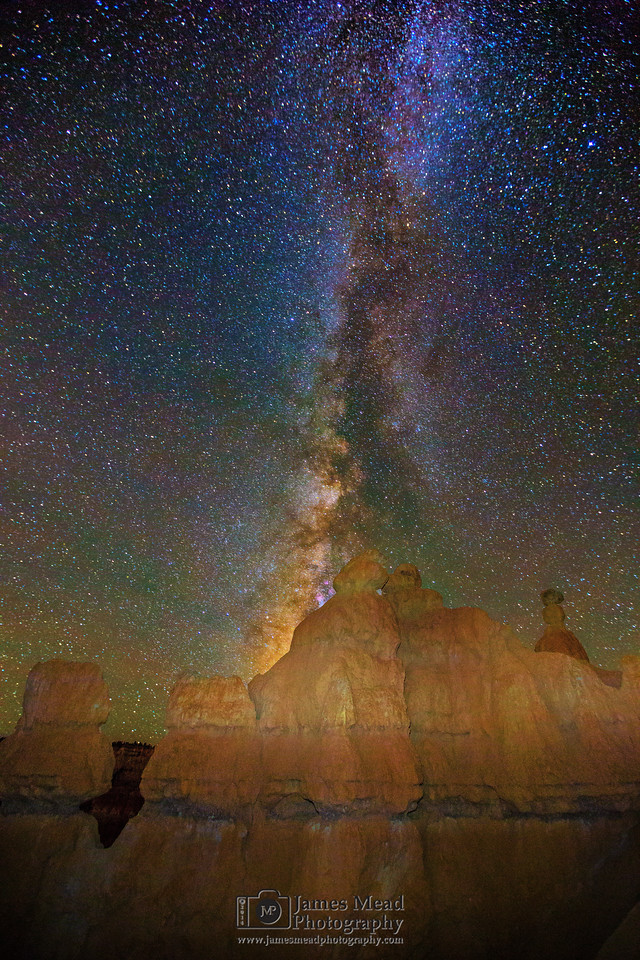 The Milky Way over the Queen's Towers, Queen's Garden, Bryce Canyon National Park