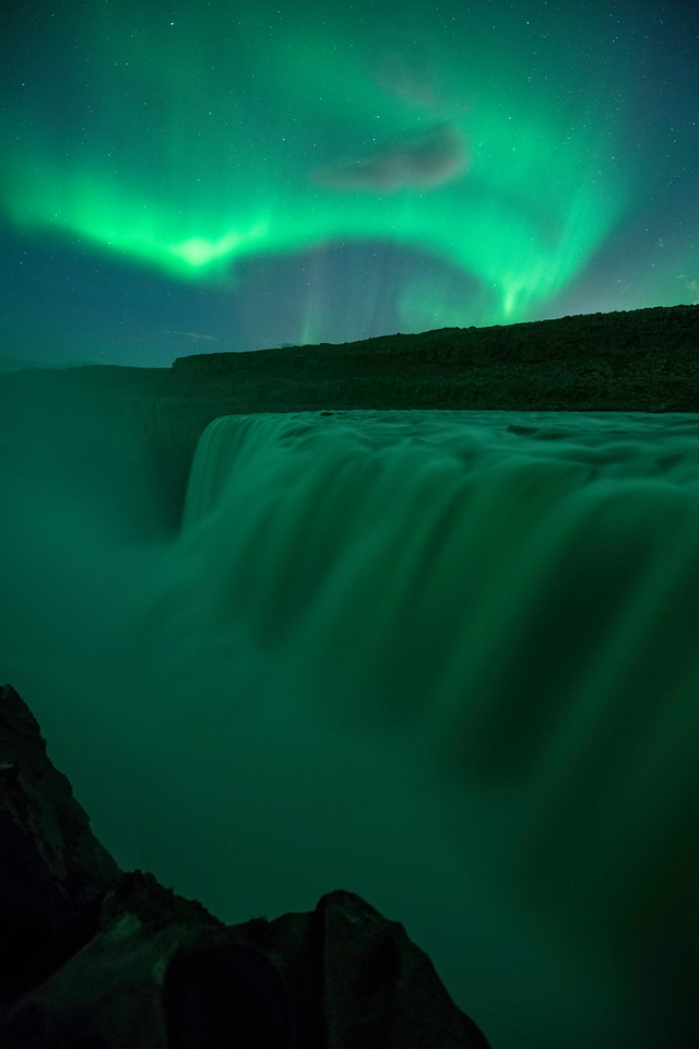 Aurora at Dettifoss