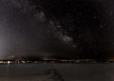 Milky Way over Canandaigua Lake