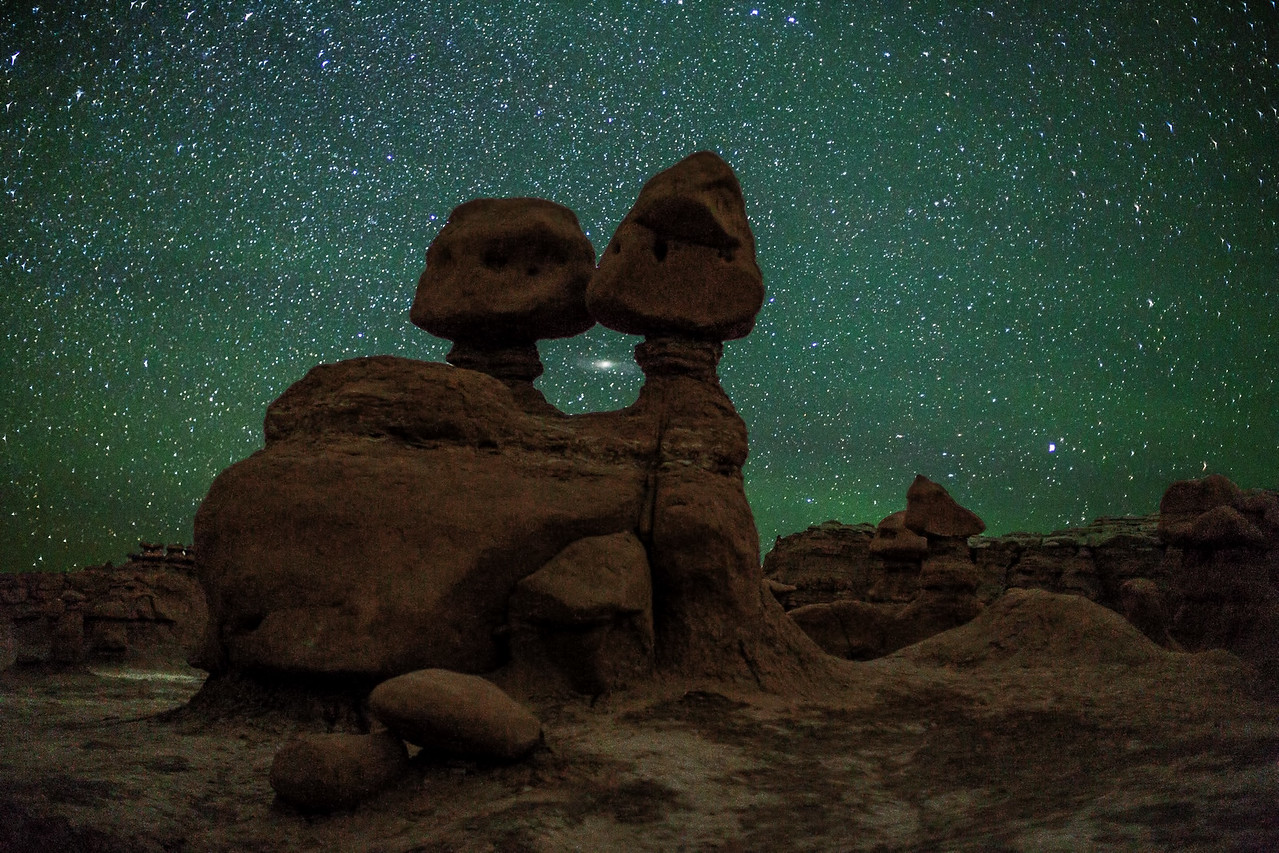 Goblins at Goblin Valley State Park and Andromeda