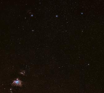 Orions Belt and Nebula