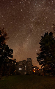 Milky Way over Castle Breitenbach