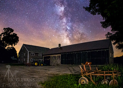 Muster Field Farm Barns Under the MIlky Way