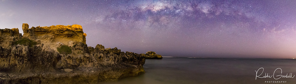 Milky Way Setting over Point Peron - Rockingham, Western Australia