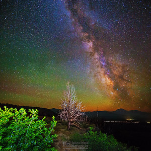 The Milky Way over Hat Creek Valley, Lassen Volcanic National Park