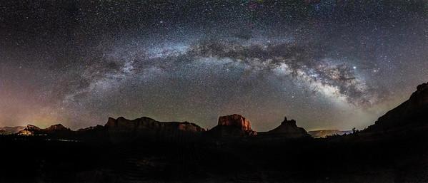 Milky Way Pano, Sedona