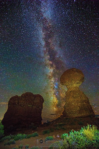The Milky Way Behind Balanced Rock, Arches National Park
