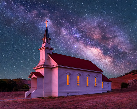Old St. Mary's Church Milky Way