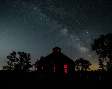 Milky Way over the Octagon Barn