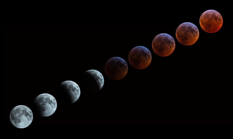 Super Blood Wolf Moon Phases