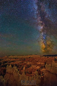 The Milky Way over the Queen's Garden, Bryce Canyon National Park
