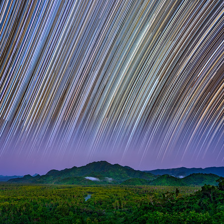 Fijian Star Trails