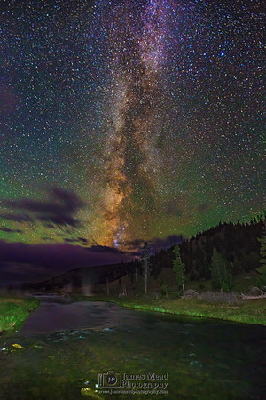 The Milky Way over the Firehole River, Yellowstone National Park