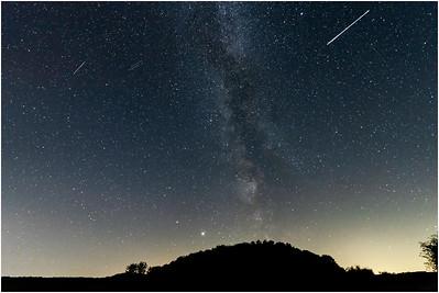 Milky Way, meteorites, Saturn and Jupiter, Blakeney, Norfolk, United Kingdom, 28 July 2020