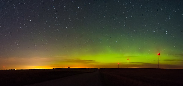 Aurora and Wind farm