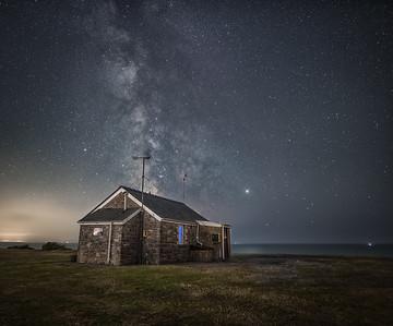 The coastguard hut, Rhossilli, Gower coast