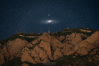 Andromeda over Sandia Crest
