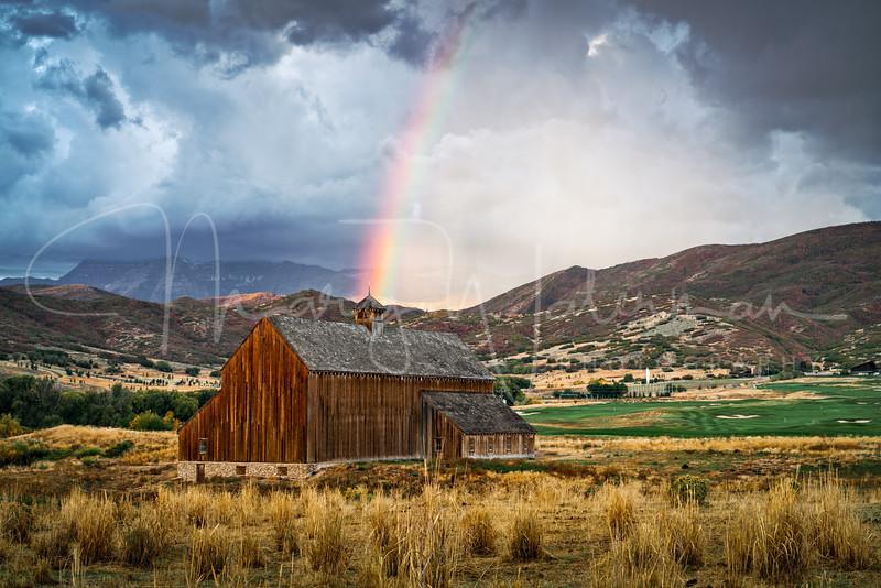 Rainbow at the Tate Barn