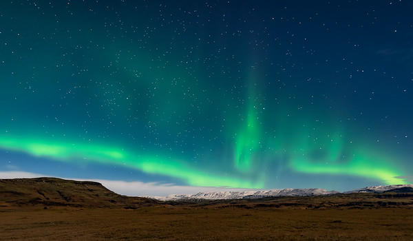 Iceland Country Side Northern Lights