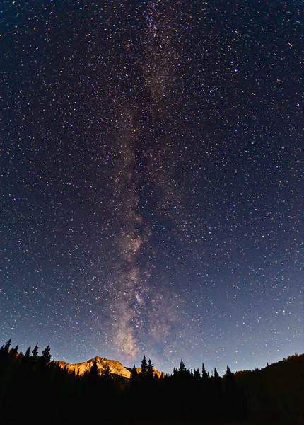 Milky Way Meets Moon on Kebler Pass