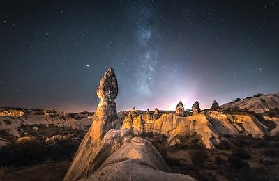Milk Way over Cappadocia