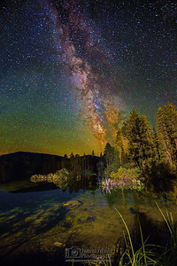 """Lake Nights,"" the Milky Way over Manzanita Lake, Lassen Volcanic National Park, California"