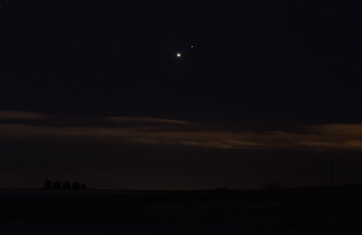 Venus - Mars conjunction