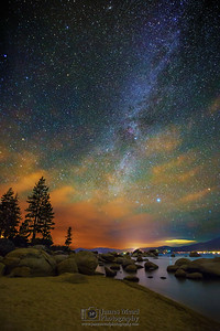 Milky Way over Sand Harbor, Lake Tahoe, Nevada