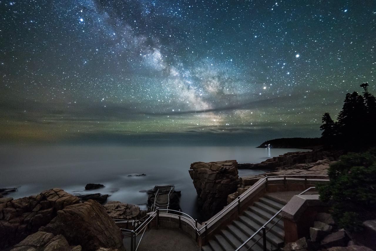 Thunder Hole under the Milky Way