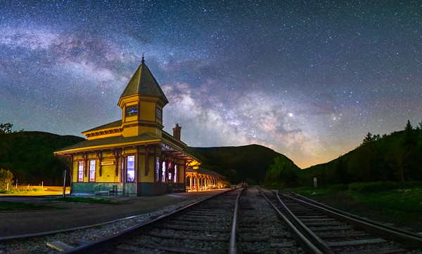 Crawford Depot at night