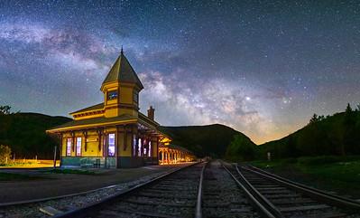Crawford Depot at night