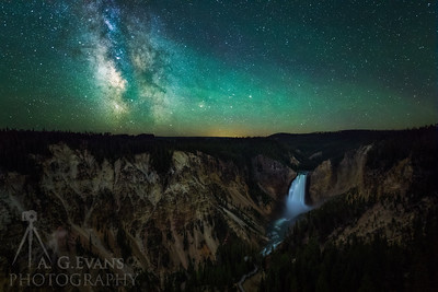 Milky Way over Lower Falls