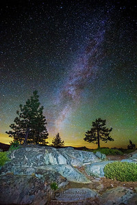 Winter Milky Way in the High Sierras, California