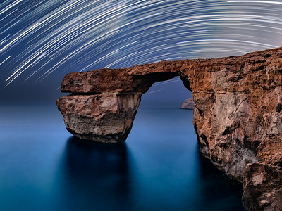 Azure Window Star Trails