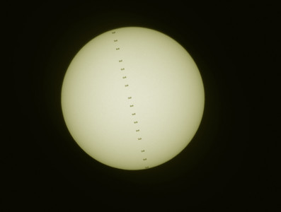 Space Station Across the Sun