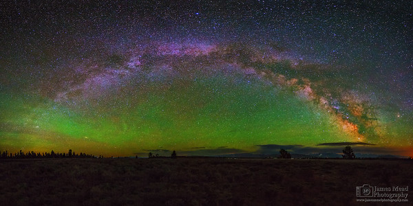 """""""Cosmic Wave,"""" The Milky Way over Jackson Hole Valley, Grand Teton National Park"""