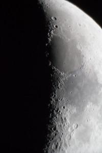 shot through eyepiece of telescope