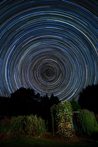 Star Trail over Clematis