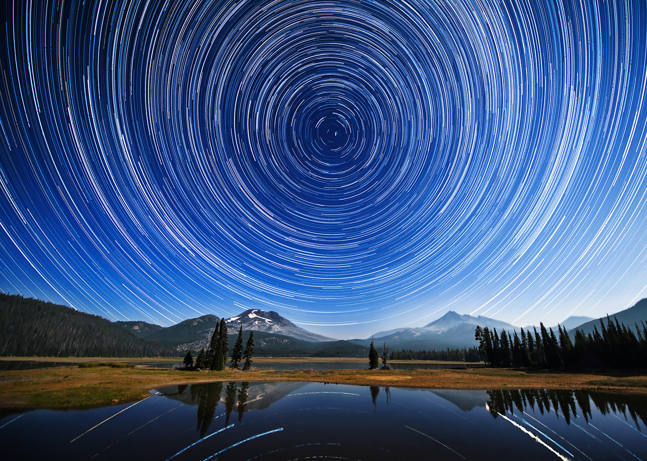 Startrails at Sparks Lake, Oregon