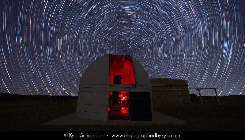 Star Trails at the Observatory