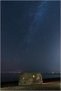 Pillbox and Milky Way, Kelling, Norfolk, United Kingdom, 13 September 2020